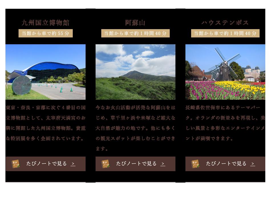 九州国立博物館 阿蘇山 ハウステンボス